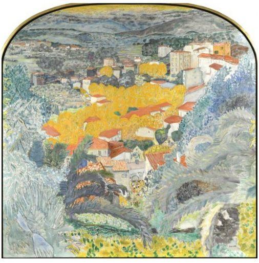 Пьер Боннар, картина Вид на Ле Канне, 1927, Париж, Музей Орсе