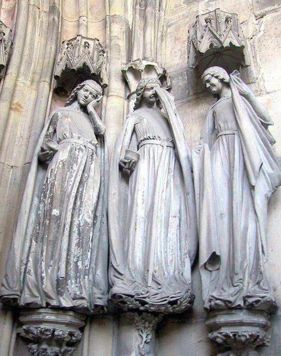 Три глупые девы, Собор Магдебурга - Немецкое искусство и скульптура