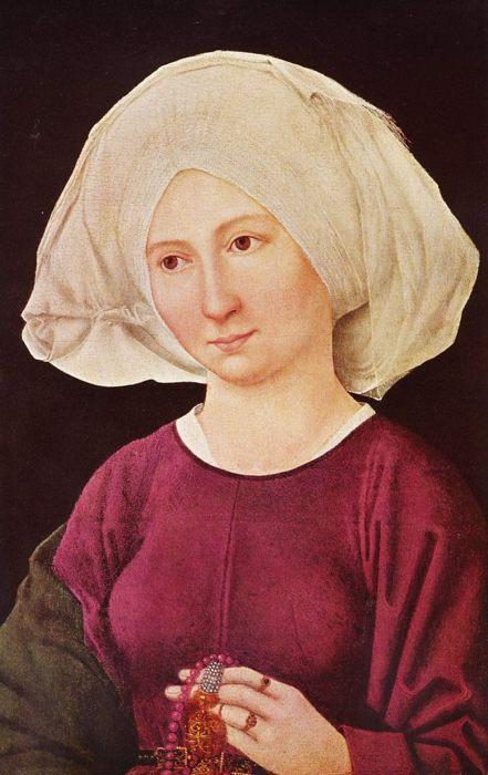 Мартин Шонгауэр, Портрет молодой женщины. Ок. 1475-1480. Коллекция Хайнца Кистерса, Кройцлинген