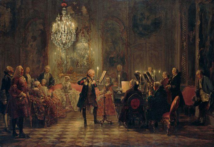 «Концерт в Сан-Суси» 1850-52,  Адольф Менцель