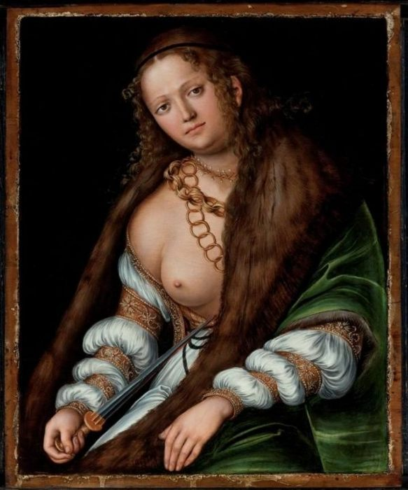 Подпись к картине: «Лукреция» Лукас Кранах Старший, ок. 1509 г