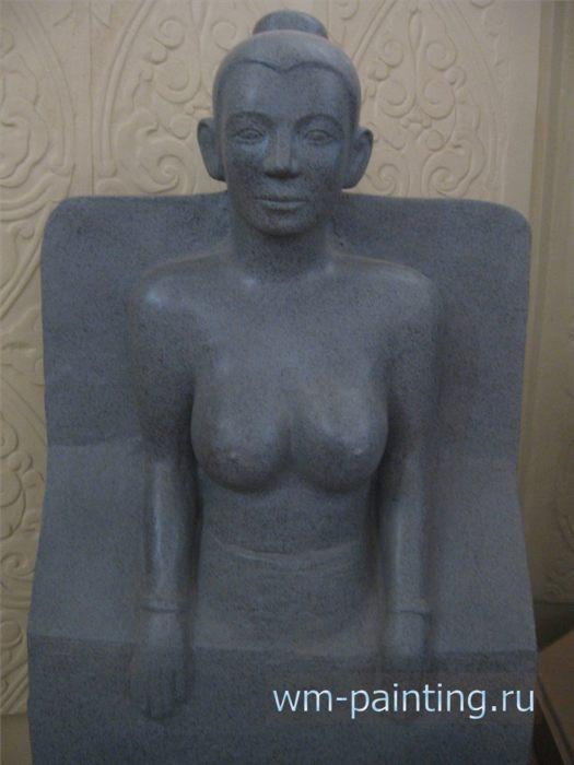 Вьетнамская наложница короля По Клонг Мохнай. Статуя из песчаника. XVII век.
