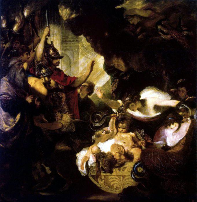 Младенец Геракл, удушающий змей, Рейнолдс