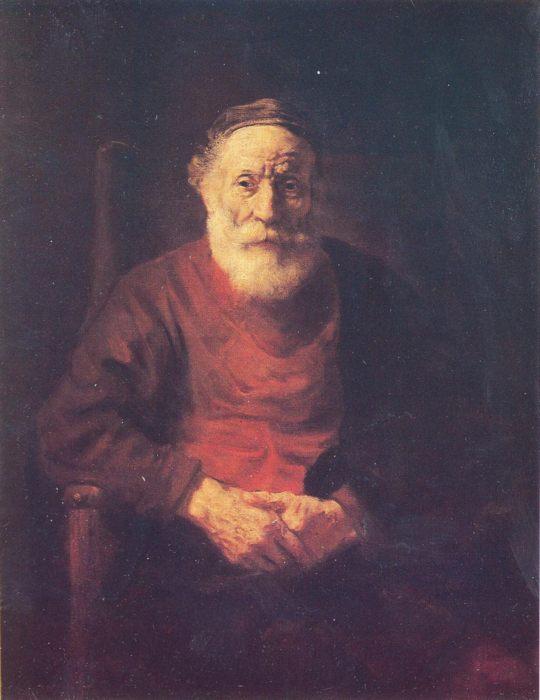 Портрет старика в красном, Рембрандт