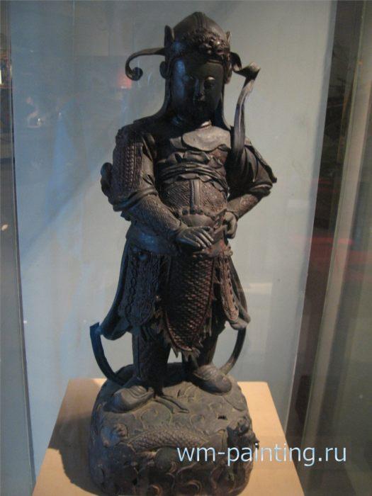 Поэт Тхиен Выонг (1819 - 1870 г.г), покоривший Короля Драконов (Лонг Выонга). Работа XIX в