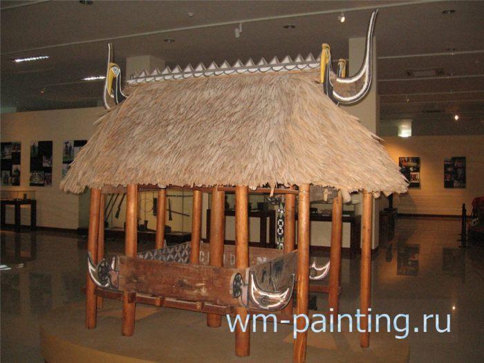 Музей города Дананг - Свайный амбар для временного хранения корзин с урожаем риса