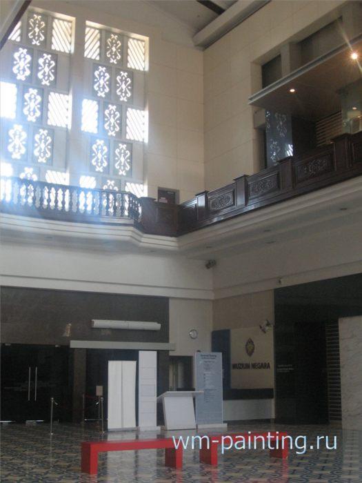 Национальный Музей Малайзии. Куала-Лумпур - В центральном зале музея.