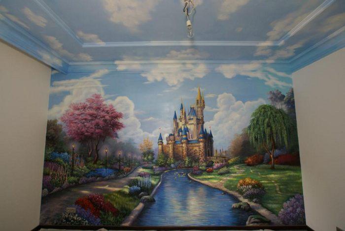 роспись стен Замок Нойшванштайн :: Харитон Купрашвили - Роспись стен и декоративно-прикладное искусство фото