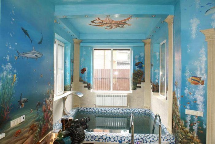 роспись стен Подводный мир :: Харитон Купрашвили - Роспись стен и декоративно-прикладное искусство фото