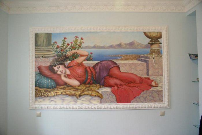 """Роспись стен """"Полдень отдых"""" John William Godward (копия) :: Харитон Купрашвили - Роспись стен и декоративно-прикладное искусство фото"""