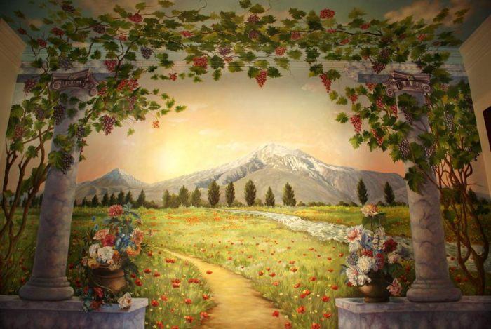 Роспись стен Арарат :: художник Харитон Купрашвили - Роспись стен и декоративно-прикладное искусство фото