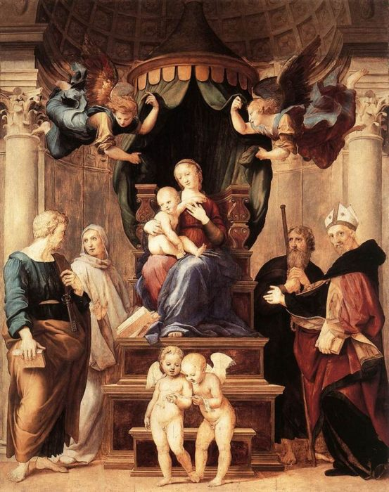 an overview of the rafaels madonna and child enthroned with saints compared to other versions Be presented as a work of art other artists choose to madonna and child enthroned with eight museum) enthroned madonna with saints and.