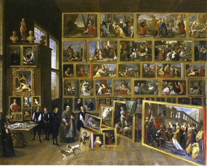 Леопольд Вильгельм Австрийский в своей галерее в Брюсселе - Давид Тенирс Младший, картины, биография - Разное фото