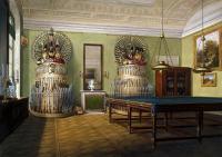 Английский, традиционный, классический  (  интерьер дизайн фото) - Бильярдная императора Александра II в Зимнем Дворце.