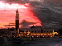 Городской пейзаж, архитектура - Огни Венеции