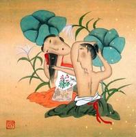 Китай традиционная живопись Гохуа - Летнее настроение