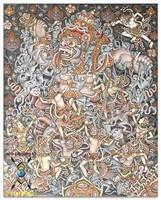 Ньоман Рупа ( Индонезия ) - Битва Кумбарканы с обезьянами
