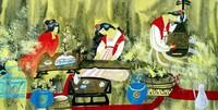 Китай традиционная живопись Гохуа - Античные красавицы