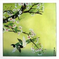 Подборка красивых картин в технике гохуа в жанре - 'Цветы и птицы' с описанием и названиями. Комментируйте и добавляйте свои работы!