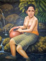НЮ - современная эротическая живопись - Балинезийская девушка