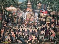 Современная живопись Индонезии - Церемония сожжения