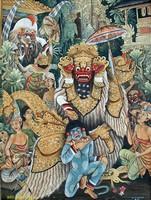 Современная живопись Индонезии - Танец Баронг