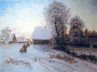 Репродукции - копии маслом  шедевров живописи - Зимний день