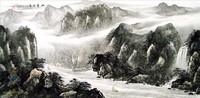Китайская живопись, Гохуа - Путешествие через горы IV