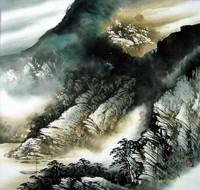 Китай традиционная живопись Гохуа - Прекрасные горы