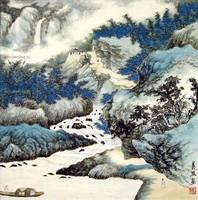 Китай традиционная живопись Гохуа - Мирная жизнь в горах