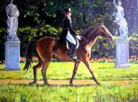 Лошади ( иппический жанр - картины с лошадьми ) - Всадник