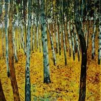 копии картин Климта - Берёзовый лес I