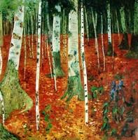 копии картин Климта - Берёзовая роща