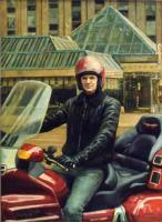 Мужской портрет - Портрет зам.министра лесной промышленности Ковалёва на мотоцикле