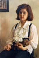 Детский портрет - Девочка с игрушечным львом