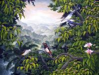 Пейзажи ( пейзажная живопись ) - Горы и птицы