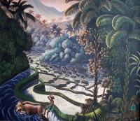 пейзажная живопись - пейзаж Посадка риса