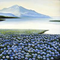 Пейзажи ( пейзажная живопись ) - Горы и цветы