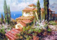 Южные, итальянские, средиземноморские пейзажи Александра Милюкова (Россия) Открытие в отдельном окне с увеличением и описанием....