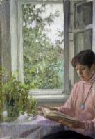Женский портрет - За чтением
