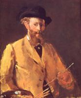 Картина Эдуарда Мане Автопортрет с палитрой
