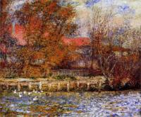 Картина Ренуара, Пруд с утками