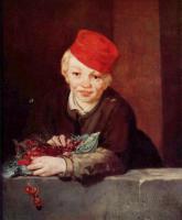 Картина Эдуарда Мане Мальчик с вишнями