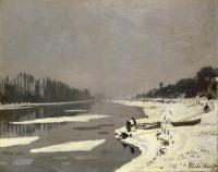 Картина Клода Моне Лёд на Сене близ Буживаля