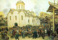 Оборона Москвы от хана Тохтамыша. 14 век, Аполлинарий Васнецов