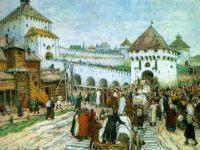 В осадное сидение. Троицкий мост и башня Кутафья, Москва в творчестве А. М. Васнецова