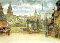 Стрелецкая слобода, Аполлинарий Васнецов, картина с описанием