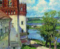 Новодевичий монастырь. Башни. 1926, Васнецов Аполлинарий Михайлович