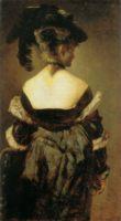 Разное - картина Дама в меховой шляпе с перьями (женский портрет) :: Ганс Макарт