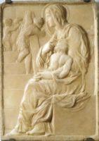 Мадонна у лестницы (Madonna of the Steps) наиболее ранняя работа Микеланджело